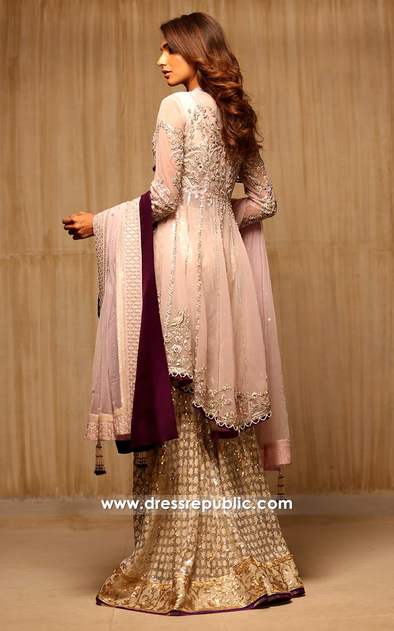 dr14176b - Pakistani Bridal Wears for Walima, Gharara Style for Engagement Bride