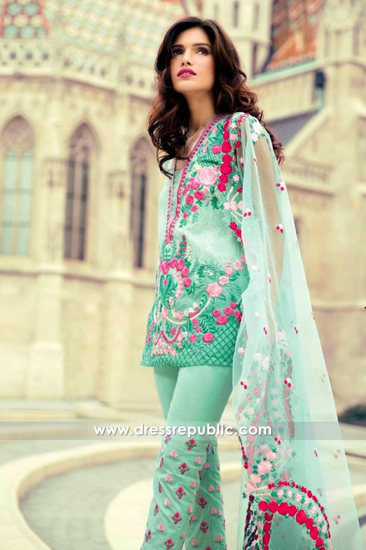 DRP6557 - Mina Hasan Embroidered Lawn 2017