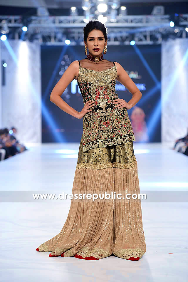DR14227 - Latest Pakistani Party Wear & Wedding Guest Gharara Styles in 2017