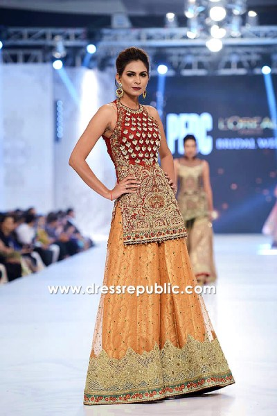 DR14228 - Pakistani Bridal Couture Week 2017 Dresses for Sale in New York, USA