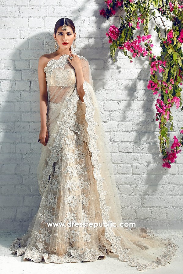 DR14327 - Champagne Bridal Lehenga for Pakistani and Indian Wedding Brides