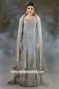 DR14358 - Custom Made-to-measure Walima Dress for Bride in Rock Beige Colour