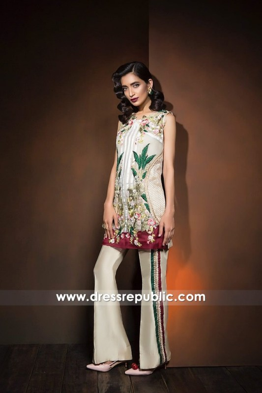 DR14364 - Pakistani Party Wear Trousers Suit 2017