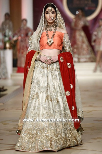 DR14486 - Pakistani Designer Bridal Lehenga 2018 Chicago