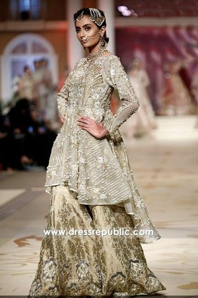 DR14492 - Pakistani Peplum Dresses 2018 With High Low Hemline