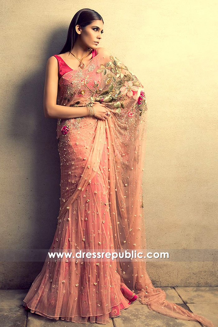 DR14502 - Sania Maskatiya Tulle Net Saree Shop Online UK, USA, Canada