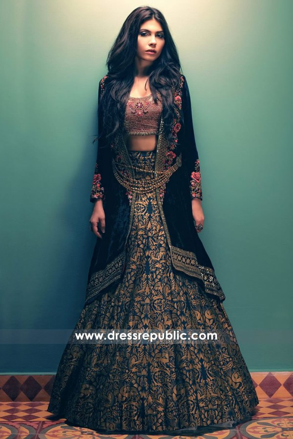 DR14507 - Designer Velvet Lehenga Choli New York, Los Angeles, Miami, Dallas USA