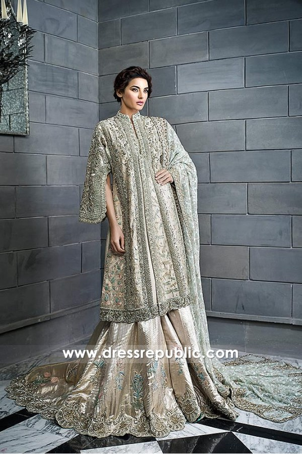 DR14594 Pakistani Designer Bridal Lehenga in Hicksville, Jackson Heights, NYC