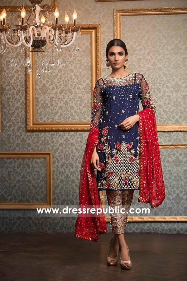 DR14637 Pakistani Wedding Guest Dresses 2018 Los Angeles, San Diego, CA