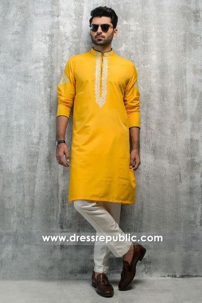 DRM5183 Designer Men's Kurta Shalwar for Mehndi, Mayon & Henna Nighta