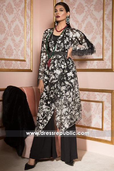 DR14686 Black Party Wear Dress by Elan 2018 USA, Canada, UK, Australia