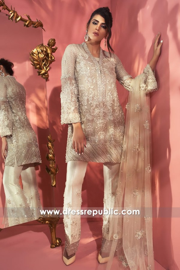 DR14751 Elan Luxury Pret Store in Bay Area, Pale Champagne Shalwar Kameez