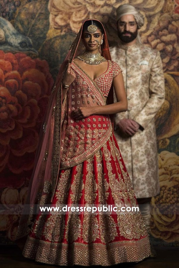 DR14828 Sabyasachi Bridal Lehenga Cost Price With Worldwide Delivery Online