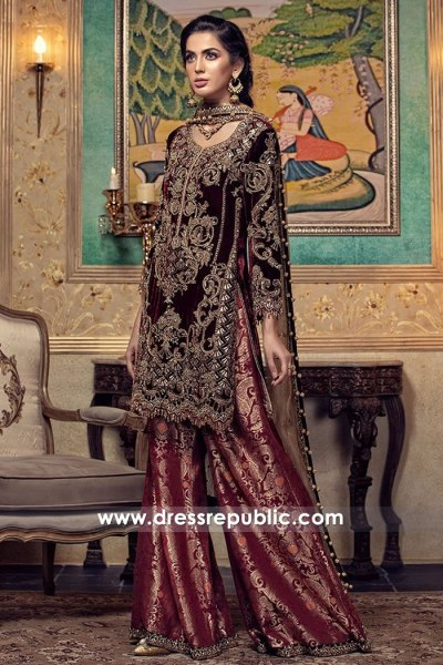 DR15008 Maria B Wedding Guest Dresses 2018 Collection UK, USA, Canada