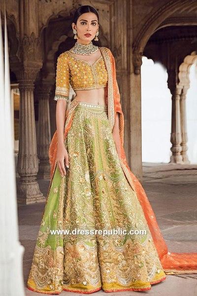 DR15068 Tena Durrani Mehendi Bridal Dress 2018, Mehndi Bride, Mehandi Outfit