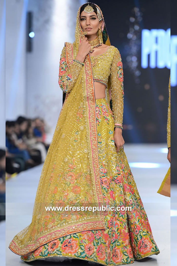 DR15112 Nomi Ansari Bridal Lehenga Online Buy in Edinburgh, Glasgow, Scotland