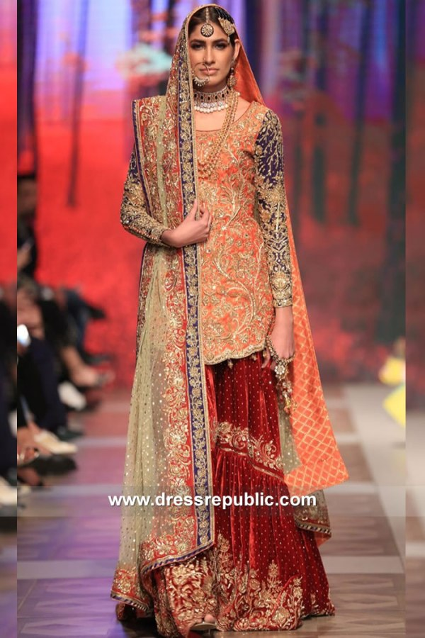 DR15118 Pakistani Designer Gharara USA Shop Online at Dress Republic