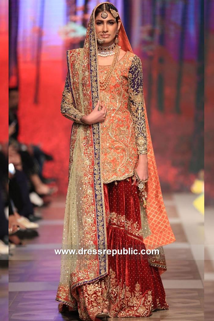 DR15118 Pakistani Designer Gharara USA Shop Online at Dress Republic