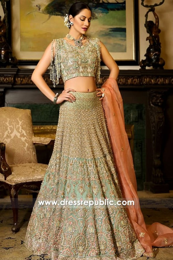 DR15254 Walima Bridal Lehenga 2019 California, Valima Wedding Dresses