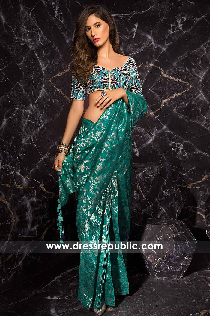 DR15260 Pakistani Designer Sarees 2019 USA, Canada, UK, Australia, Europe