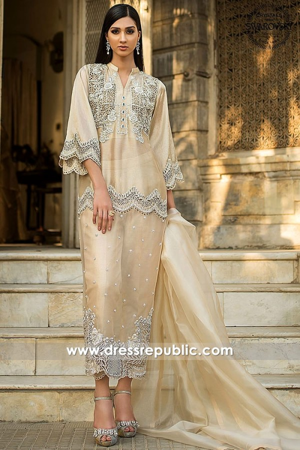 DR15279 Pakistani Long Striaght Shirts 2019 Collection USA, UK, Canada, Australia