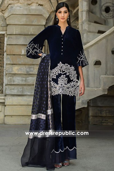 DR15282 Zainab Chottani Velvet Dresses 2019 Toronto, Mississauga, Canada