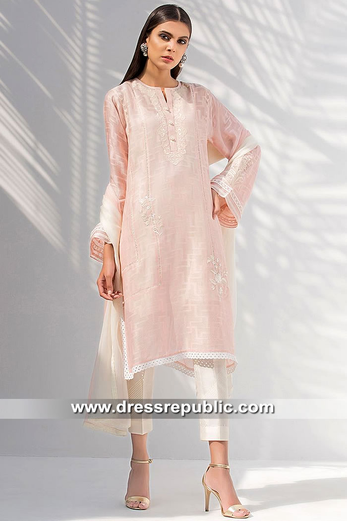 DR15407 Eid 2019 Baby Pink Kurti Buy in Toronto, Mississauga, Canada