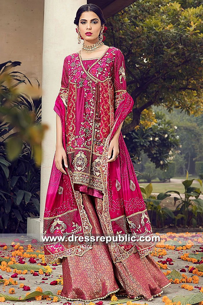 DR15492 Designer Angarkha Style in London, Manchester, Birmingham UK