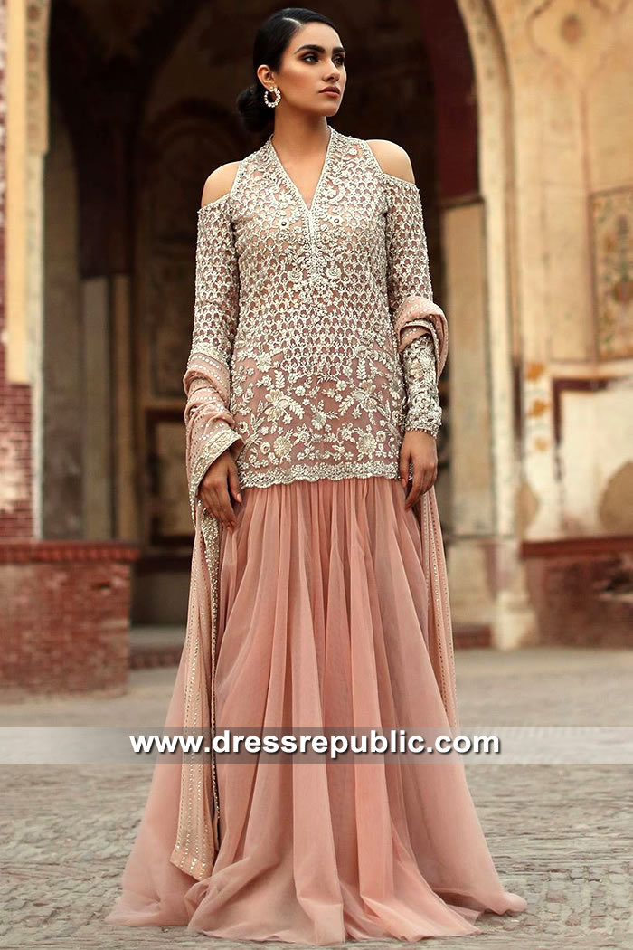DR15534 Pakistani Designer Shops in Manchester, UK Buy Dresses Online