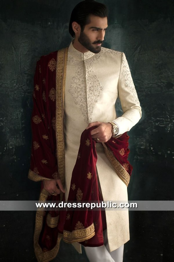 DRM5306 Groom Sherwani for Nikkah Buy Online in New York, New Jersey, Florida