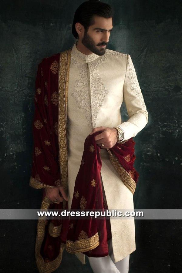 DRM5306 Groom Sherwani for Nikkah Buy Online in New York, New Jersey, Florida