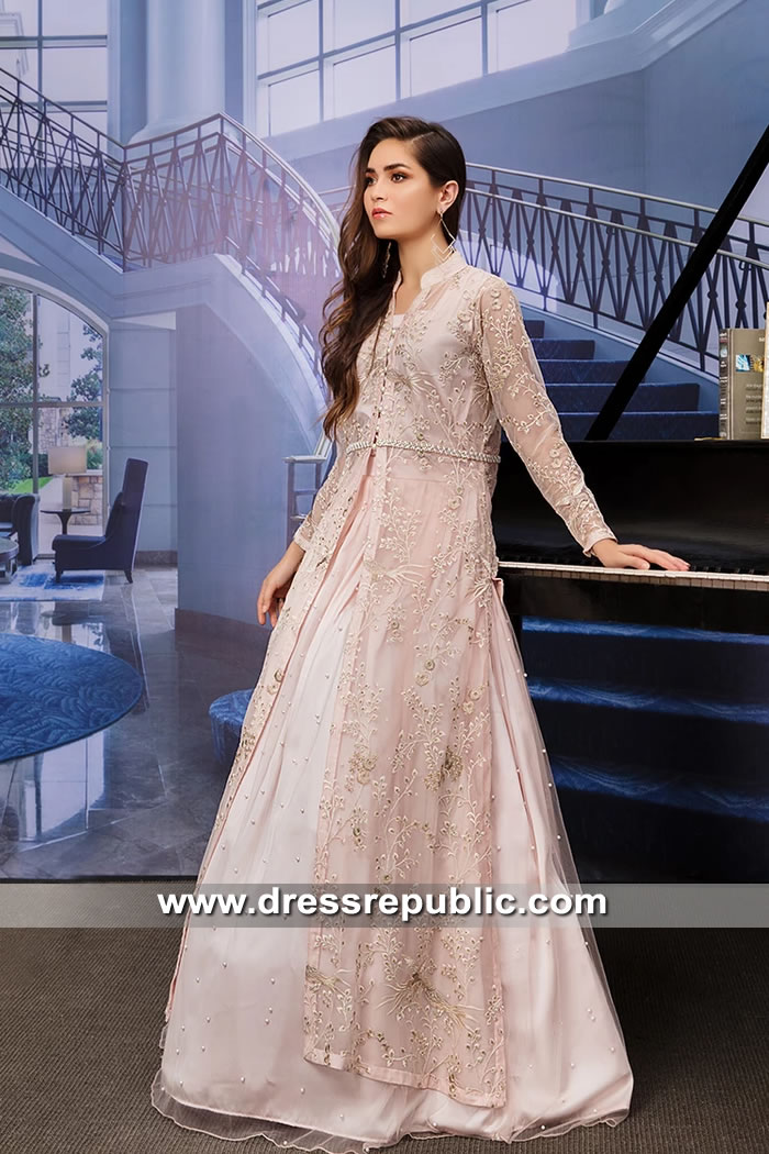 DR15641 Pakistani Wedding Guest Lehenga with Long Shirt Online in USA, Canada
