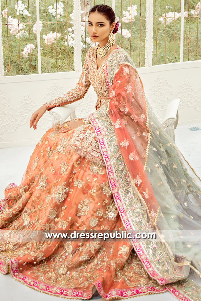 DR15712c Pakistani Bridal Lehenga 2020 Collection UK, USA, Canada, Australia