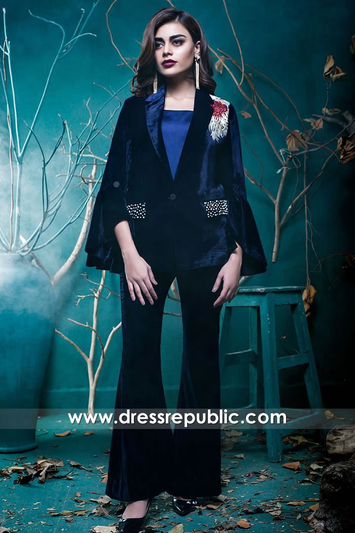 DR15732 Zainab Chottani Velvet Collection Buy in Los Angeles, San Jose, California