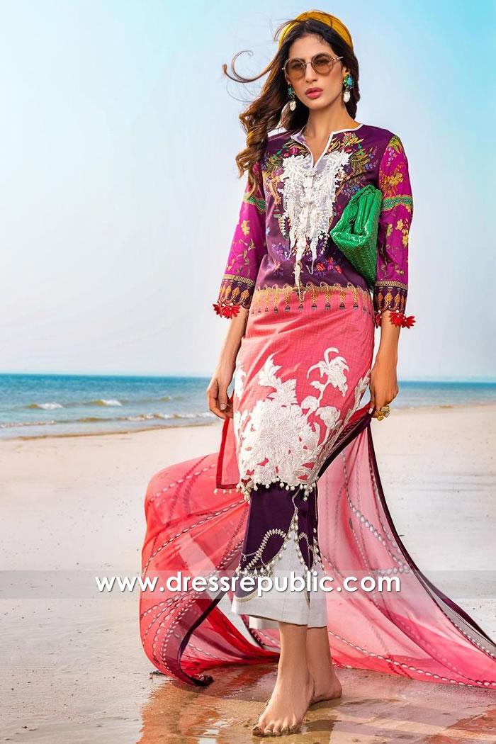 DRP1054 Sana Safinaz Muzlin 2020 Pakistani Lawn Suits Wholesalers Canada