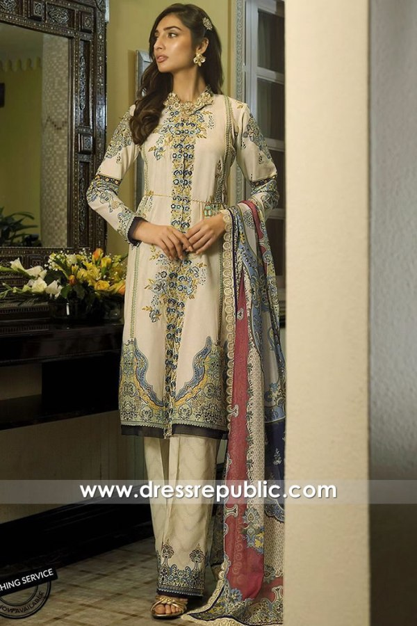 DRP1115 Asim Jofa Luxury Lawn 2020 France, Belgium, Germany, Switzerland