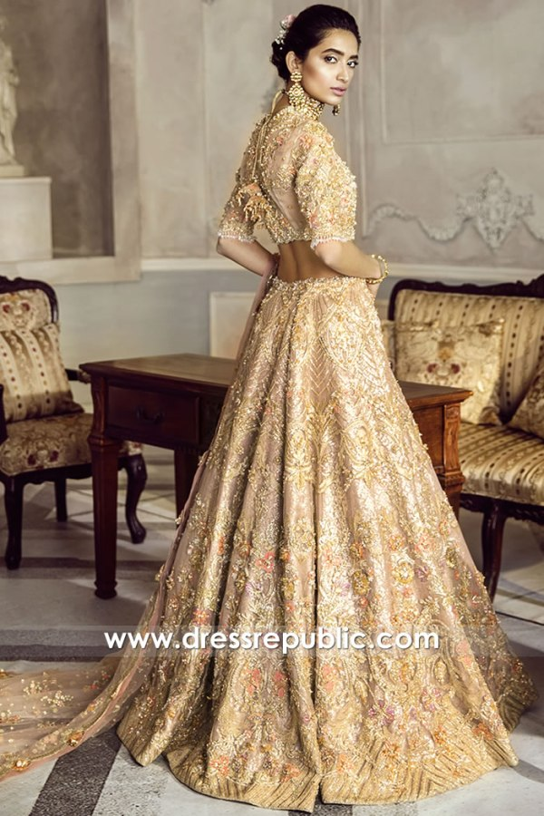DR15775b Back View of Sachet Apex Bridal Lehenga