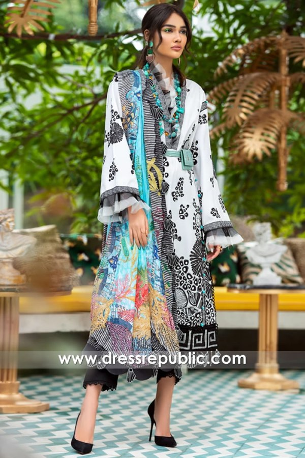 DRP1177 Pakistani Lawn Suits 2020 by Zaha Buy in Chicago, Denver, Columbus