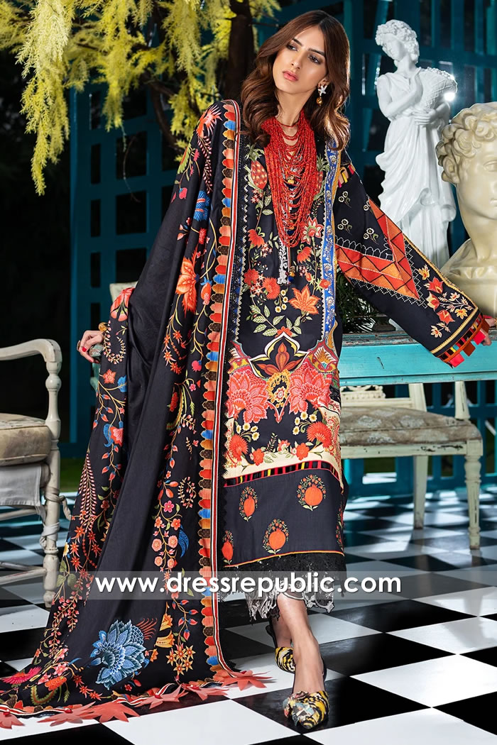 DRP1186 Zaha Original Designer Stitched Lawn Suits 2020 UK, USA, Canada