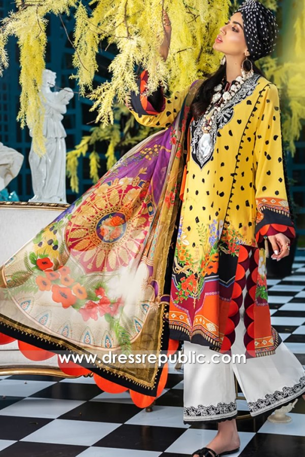 DRP1187 Zaha Original Designer Stitched Lawn Suits Bradford, Sheffield, Leeds, UK