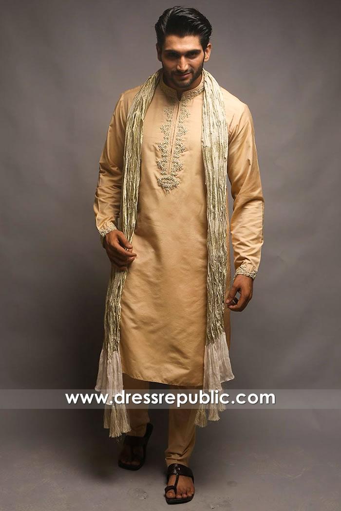DRM5401 Cotton Kurta Style for Men Online Festive Men's Kurta for Wedding Guests