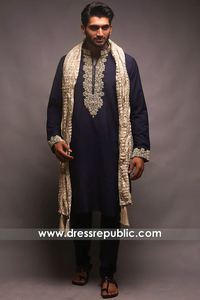 DRM5402 Festive Men Kurta Pajama for Wedding Man Kurta Pyjamas for Wedding