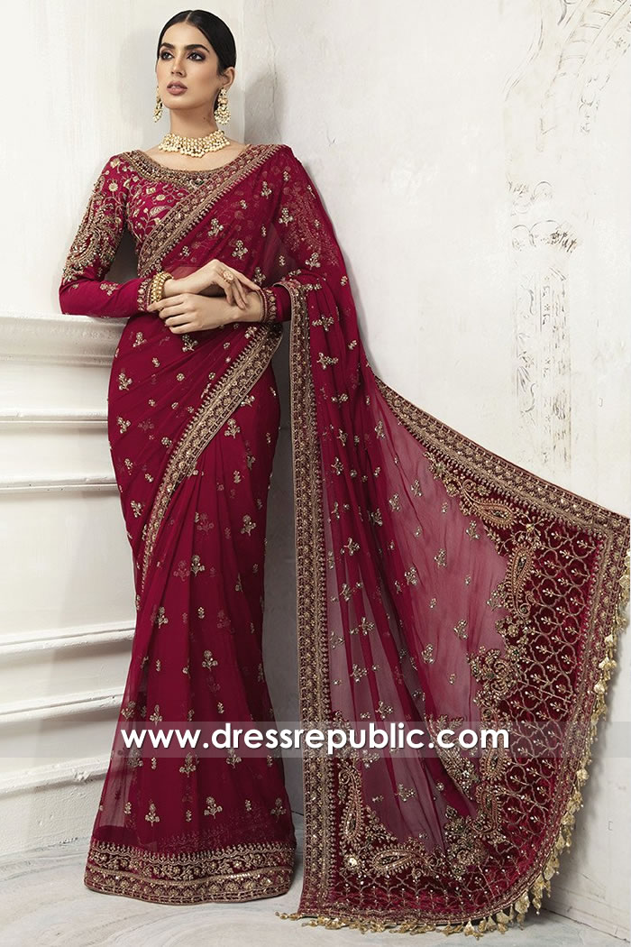 DR15896 Pakistani Designer Sarees 2020 Online Shopping England, Scotland, UK