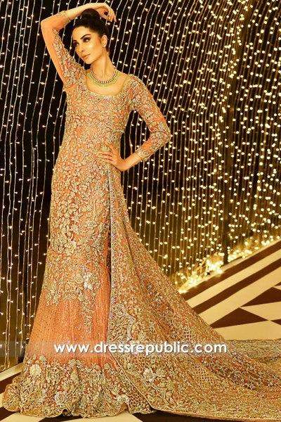 DR15908 Pakistani Bridal Lehenga Autumn Winter 2020 Online Shopping