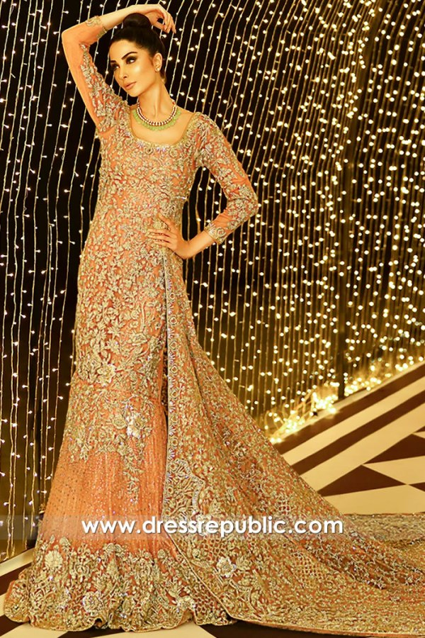 DR15908 Pakistani Bridal Lehenga Autumn Winter 2020 Online Shopping