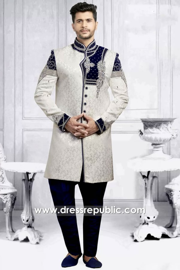 DRM5501 Groom Sherwani 2020 Collection Buy in Los Angeles, California, USA