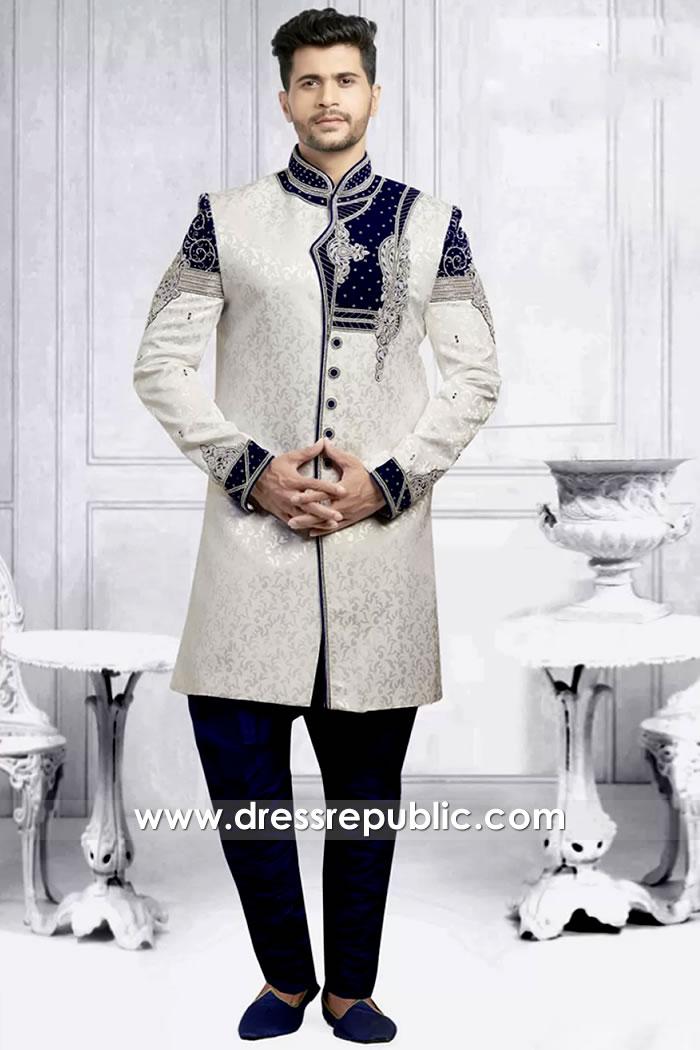 DRM5501 Groom Sherwani 2020 Collection Buy in Los Angeles, California, USA