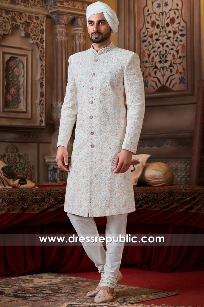 DRM5503 Groom Sherwani 2020 Collection Buy in Houston, Dallas, Austin, Texas