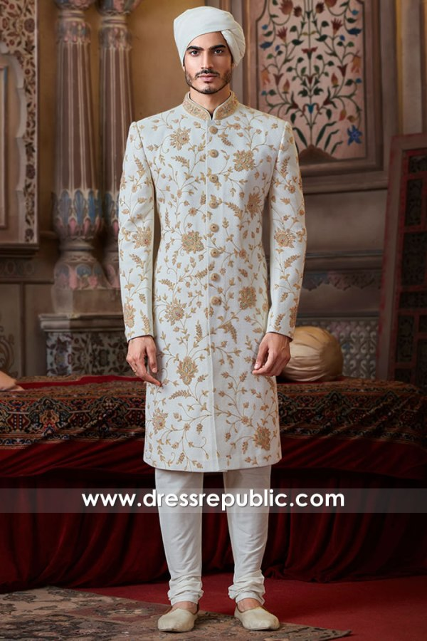 DRM5504 Groom Sherwani 2020 Collection Buy in Aurora, Chicago, Devon Street, IL