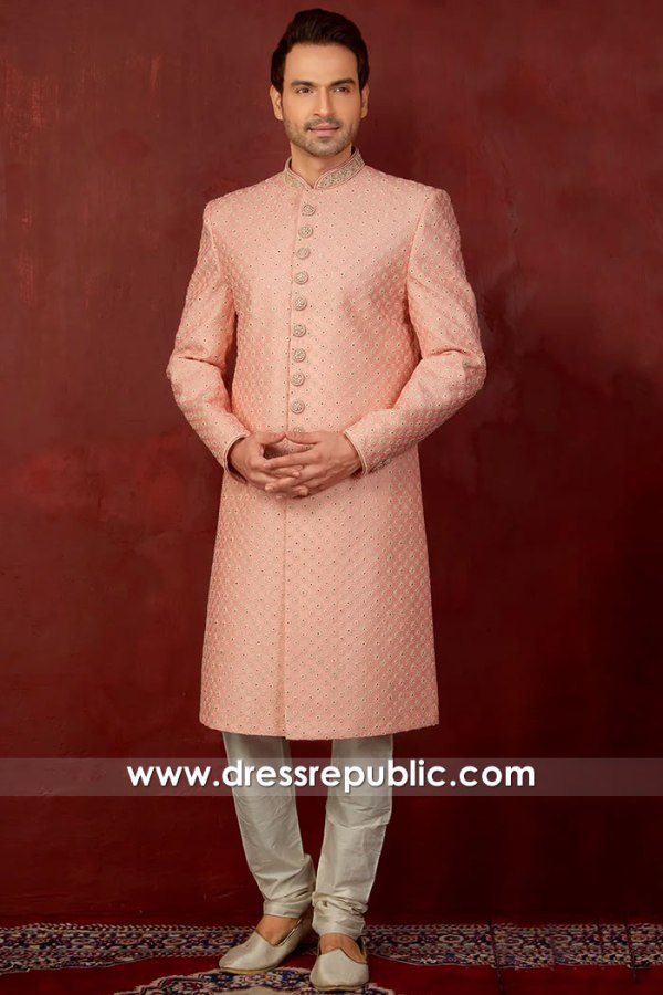 DRM5510 Pink Sherwani Style 2020 Buy Online in USA, Canada, UK, Australia